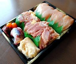 比内町比内地鶏正肉ケース・ガラ、モツ付【生】