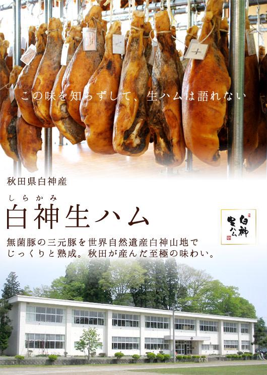 無菌豚の三元豚を世界自然遺産白神山地で じっくりと熟成。秋田が産んだ至極の味わい。